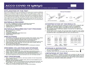 Acco COVID-19 IgM/IgG